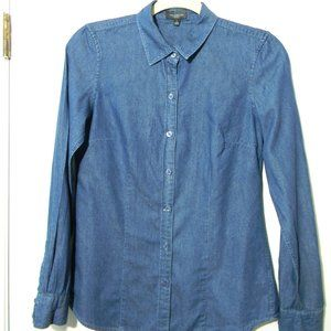 The Limited Jean Color Button Down Blouse - S
